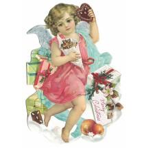 Angel with Cookies Christmas Postcard ~ Germany