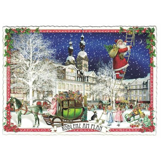 Koblenz Christmas Postcard ~ Germany