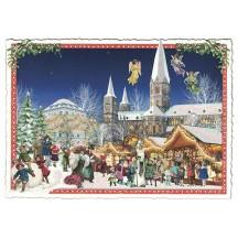 Christmas Market Postcard ~ Germany