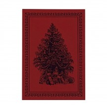 Letterpress Old Fashioned Christmas Tree Postcard ~ Rossi Italy