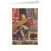 Angel Playing Music Christmas Card ~ Rossi Italy
