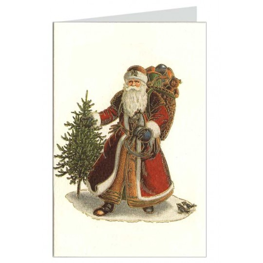 Red Santa Italian Christmas Card ~ Rossi Italy