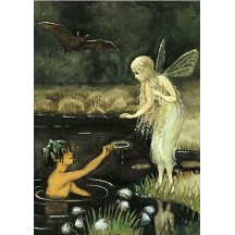 Pond Fairies Postcard ~ Sweden