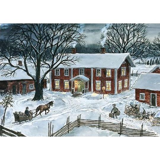 The Farm Christmas Postcard Sven Nordqvist ~ Sweden