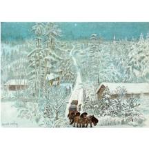 Little Vigg's Christmas Eve Postcard Harlad Wiberg ~ Sweden