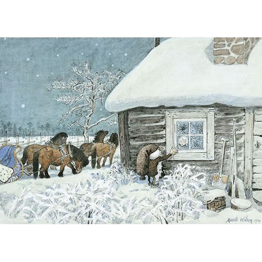 Little Vigg's Christmas Eve Postcard Harlad Wiberg ~ Sweden