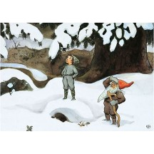 Tomte Gnome in the Snow Christmas Postcard Elsa Beskow~ Sweden