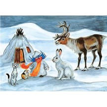 Plupp and his Friends Christmas Postcard ~ Sweden