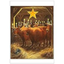 Mama Mu St Lucia Christmas Postcard ~ Sweden