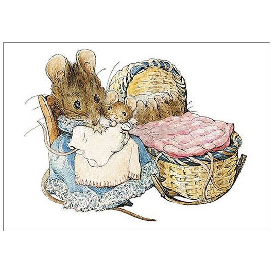 Beatrix Potter Postcard with Mrs. Tittlemouse ~ Sweden