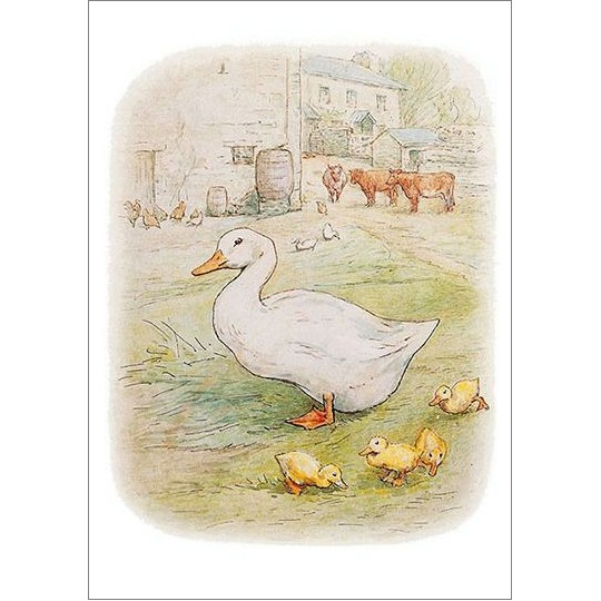 Beatrix Potter Postcard with Jemima Puddleduck ~ Sweden