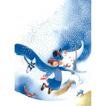 Tales of Winter Snowman Postcard ~ Sweden
