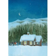 The Cottage Christmas Postcard ~ Sweden