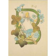 Letter B Alphabet Postcard ~ Sweden