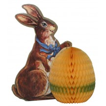 Vintage Bunny With Honeycomb Egg Decoration