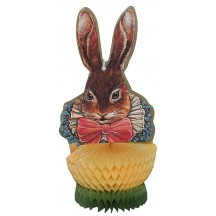 Vintage Dapper Bunny With Honeycomb Decoration