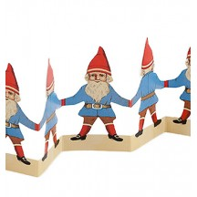 "Petite Tomte Gnomes Folding Paper Frieze from Sweden ~ 2-7/8"" tall"