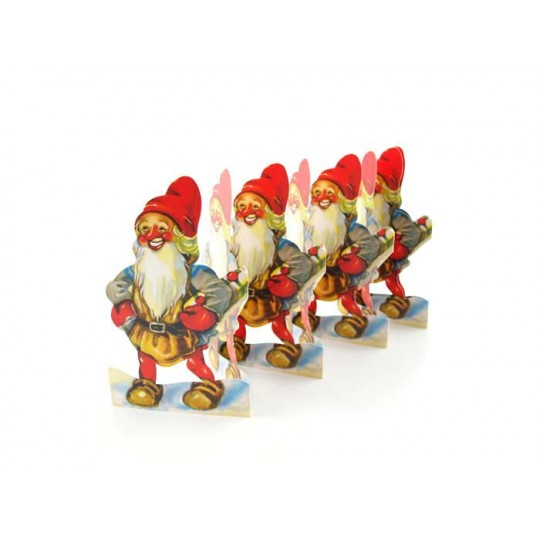 "Gnomes with Gifts Folding Paper Frieze from Sweden ~ 5"" tall"