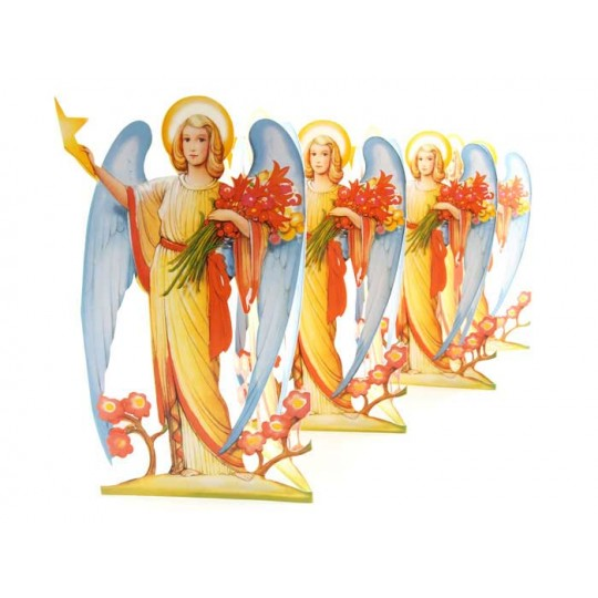 "Extra Tall Angel with Star Folding Paper Frieze from Sweden ~ 8-3/4"" tall"