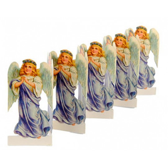 "Petite Christmas Angel Folding Paper Frieze from Sweden ~ 3"" tall"