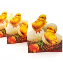 "Easter Chicks and Eggs Folding Paper Frieze from Sweden ~ 4-1/4"" tall"