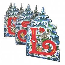 "God Jul Gnome Folding Paper Frieze from Sweden ~ 5-1/2"" tall"