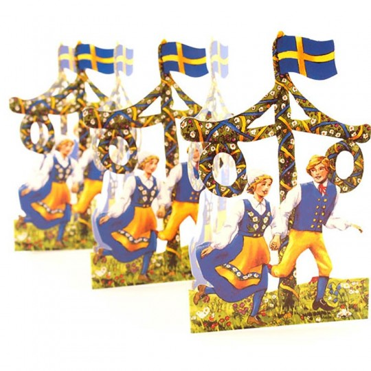 "Swedish Midsommar Folding Paper Frieze from Sweden ~6-1/4"" tall"