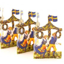 "Swedish Petite Folding Paper Frieze from Sweden ~ 2-3/4"" tall"