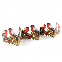 "Christmas Robins Folding Paper Frieze from Sweden ~ 3-1/4"" tall"