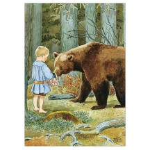 Bear in Forest Postcard ~ Sweden