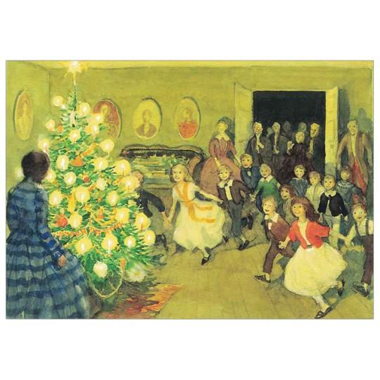Family Christmas Postcard ~ Sweden