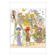 Flower Fairy Parade Postcard ~ Sweden