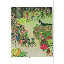 Berry Fairy Parade Postcard ~ Sweden
