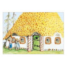 Hansel and Gretel Christmas Postcard ~ Sweden