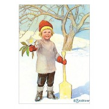 Christmas Boy Postcard ~ Sweden