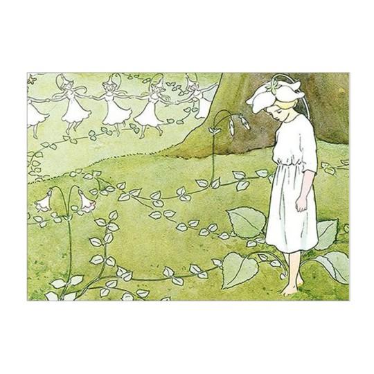 Flower Girl Postcard ~ Sweden
