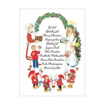 Swedish Greetings Christmas Postcard ~ Sweden