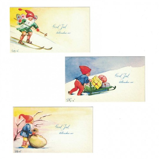 10 Vintage Miniature Christmas Postcards ~ Sweden