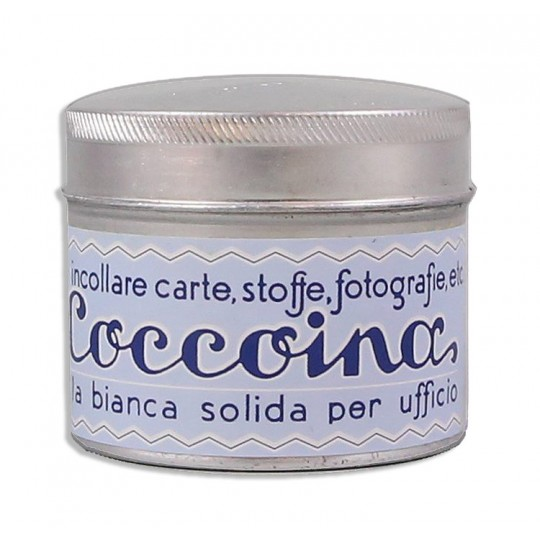 Coccoina Paste Tin w/ Brush ~ Made in Italy ~ Pastel Blue Label