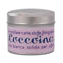 Coccoina Paste Tin w/ Brush ~ Made in Italy ~ Pastel Pink Label