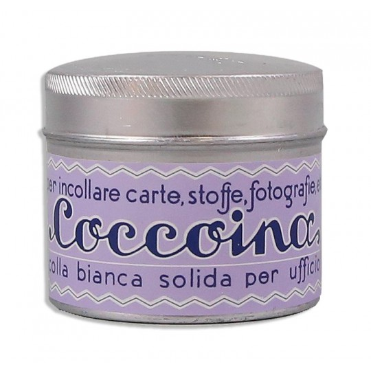 Coccoina Paste Tin w/ Brush ~ Made in Italy ~ Pastel Purple Label