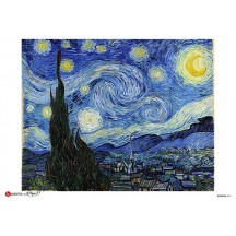 Van Gogh Starry Night Rice Paper Decoupage Sheet ~ Italy