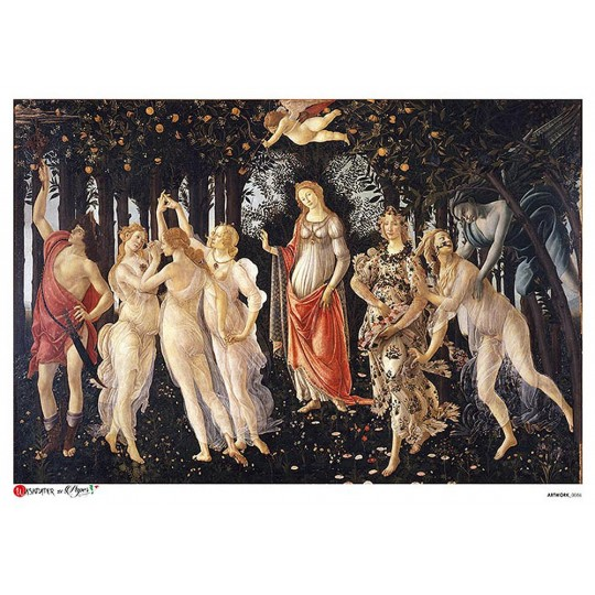 Botticelli Primavera Rice Paper Decoupage Sheet ~ Italy
