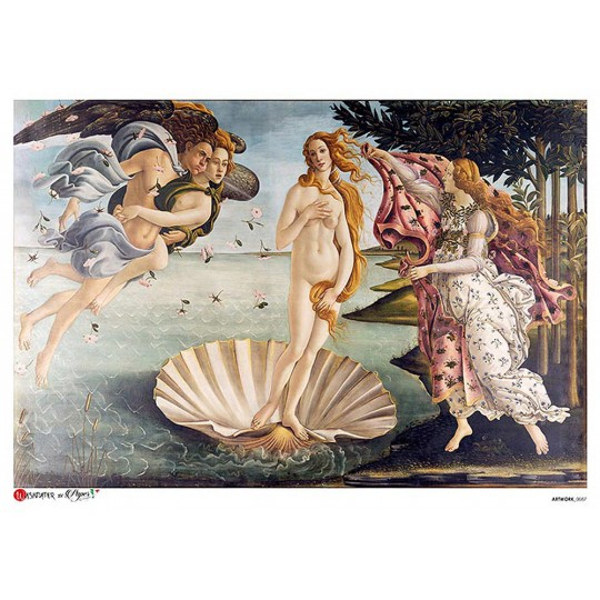 Botticelli Birth of Venus Rice Paper Decoupage Sheet ~ Italy