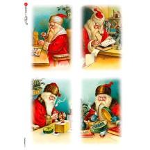 Santa's Workshop Rice Paper Decoupage Sheet ~ Italy
