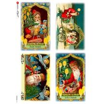 St. Nicholas Italian Christmas Rice Paper Decoupage Sheet ~ Italy