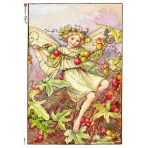 The White Bryony Fairy Flower Fairies Rice Paper Decoupage Sheet ~ Italy