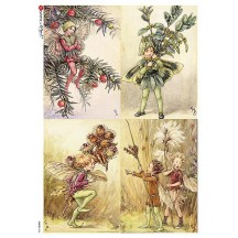 Fairies of Winter II Fairy Flower Fairies Rice Paper Decoupage Sheet ~ Italy