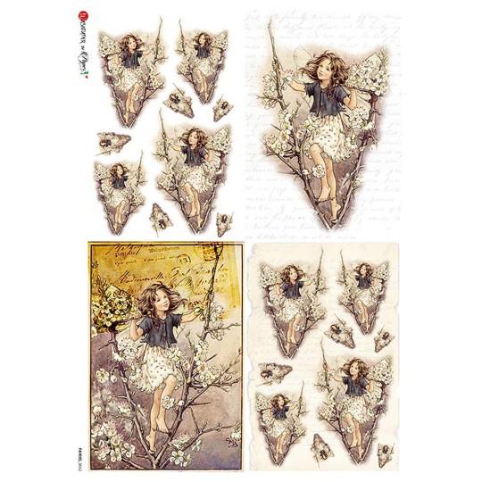 The Blackthorn Fairy Flower Fairies Rice Paper Decoupage Sheet ~ Italy