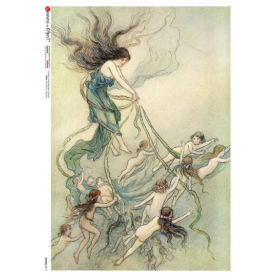 Nymphs and Fairies Rice Paper Decoupage Sheet ~ Italy